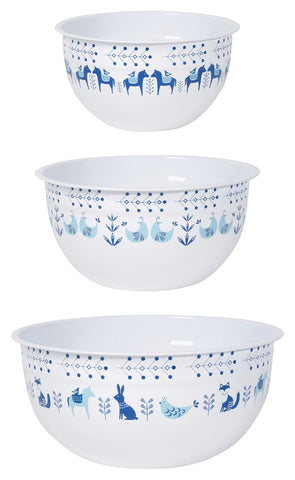 Meadowland Mix and Serve Steel Bowls | Set of 3 - F. W. Woolworth Co. Online Store