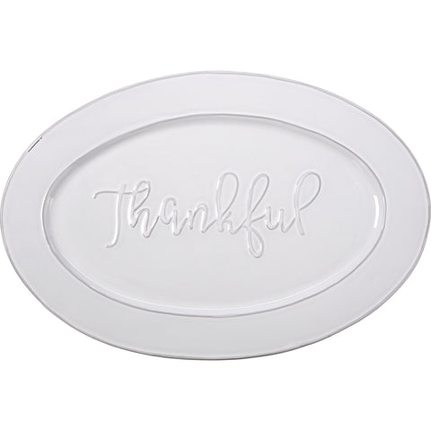 Bountiful Blessings Thankful Turkey Platter