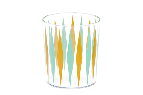 Retro Diamond Print Plastic Tumbler Glass Set, 8-Piece - F. W. Woolworth Co. Online Store