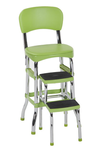 Green Retro Counter Chair / Step Stool - F. W. Woolworth Co. Online Store