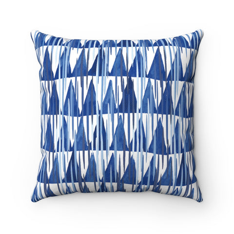 Shibori Double Sided Polyester Square Pillow Case