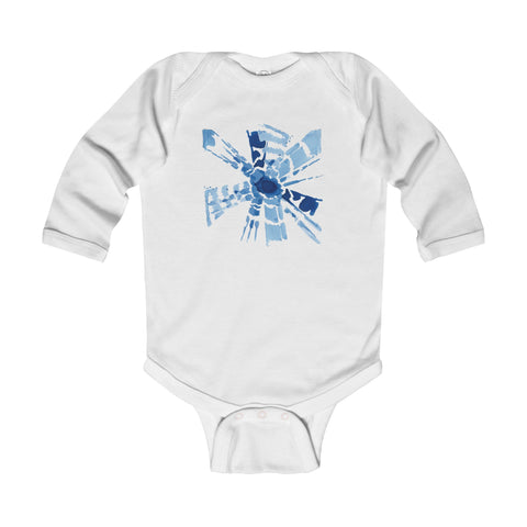 Indigo Burst Long-sleeved Onesie - F. W. Woolworth Co. Online Store