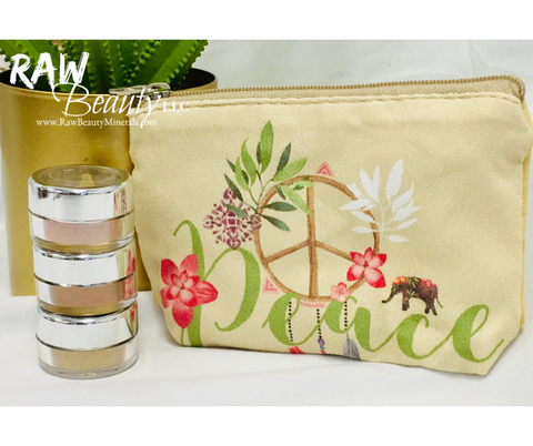 "Mini ""Peace"" Makeup Pouch"