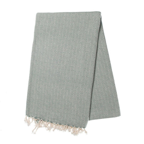 Sea Green Diamond Turkish Towel