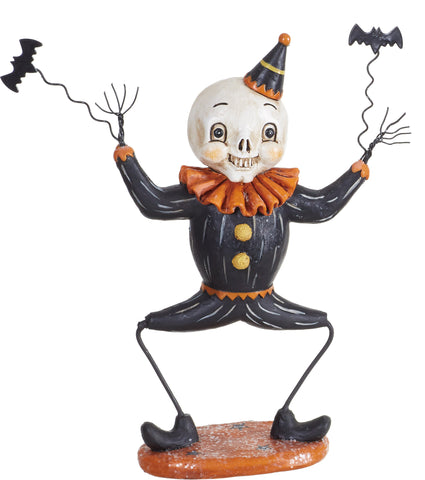 Vintage Style Dancing Halloween Skeleton Tabletop Decor