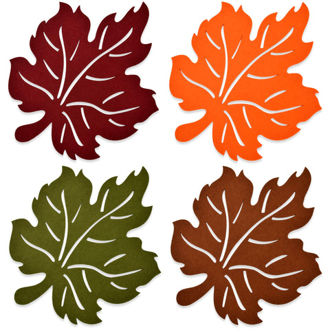 Harvest Leaf Felt Placemats Pack of 4