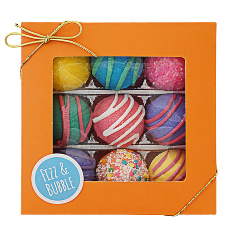 Fizz & Bubble Bath Bomb Fizzy Truffles Fruit & Floral Box Assorted 9 Count - F. W. Woolworth Co. Online Store