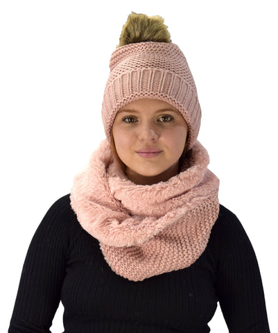 Hat + Infinity Scarf Set
