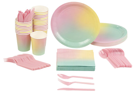 Ombre Disposable Dinnerware Set - Serves 24 - F. W. Woolworth Co. Online Store