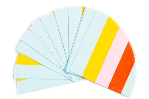 Round Paper Napkins, Rainbow Stripe, 32 Count - F. W. Woolworth Co. Online Store