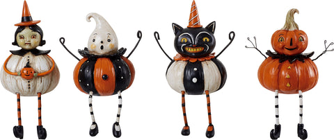 Halloween Vintage Figures, Set of 4