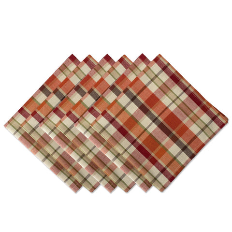 "Oversized Basic Fall & Holiday 20x 20"" Napkin, Set of 6, Pumpkin Spice"