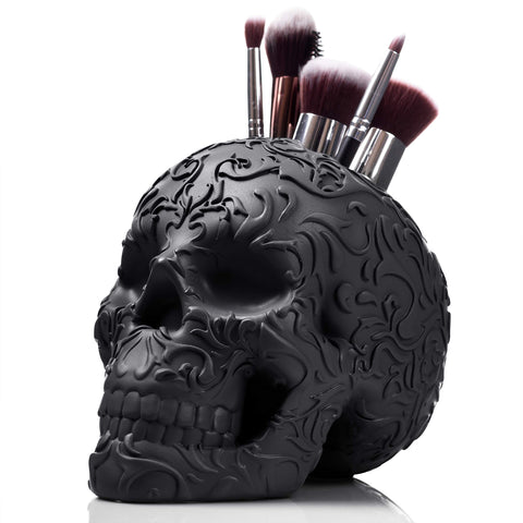 Skull Makeup Brush Holder/Pen Holder/Desk Organizer - F. W. Woolworth Co. Online Store