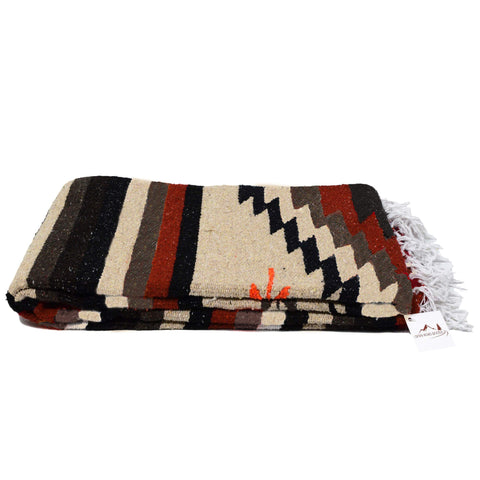 Aztec Navajo Style Blanket, Throw, or Yoga Bolster - Handwoven - F. W. Woolworth Co. Online Store
