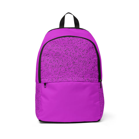Magenta Splatter Fabric Backpack - F. W. Woolworth Co. Online Store