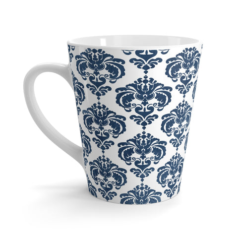 Blue Damask Latte Mug 12oz - F. W. Woolworth Co. Online Store