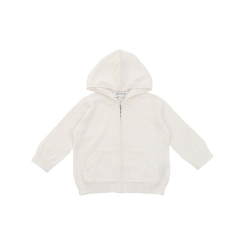 Cotton Cashmere White Hoodie Baby