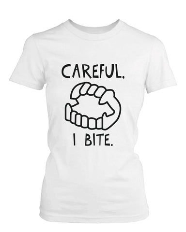 Careful I Bite Crewneck Tee | Slim Fit - F. W. Woolworth Co. Online Store
