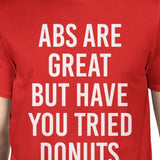 Abs Are Great But Tried Donut Man Red T-shirts Funny T-shirt
