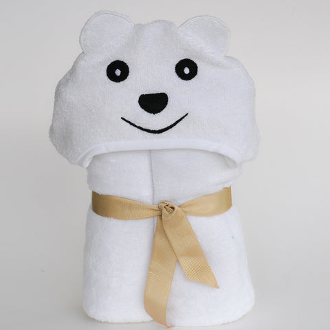 Bamboo rayon Bear Hooded Turkish Towel: Little Kid - F. W. Woolworth Co. Online Store