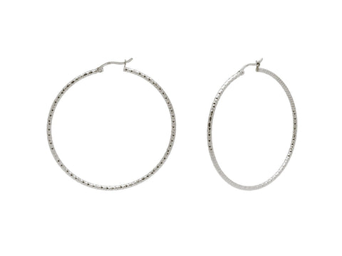 Diamante Cut Hoops (40mm) - F. W. Woolworth Co. Online Store