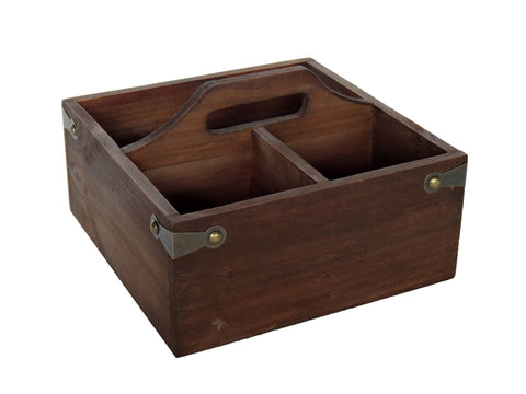 Wooden Storage Caddy - F. W. Woolworth Co. Online Store