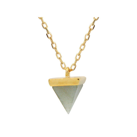Golden Agate Pyramid Necklace - F. W. Woolworth Co. Online Store
