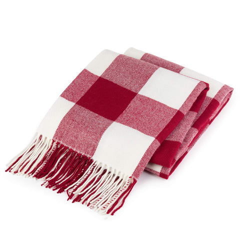 "Buffalo Check Plaid Throw Blanket - 50"" x 60"""
