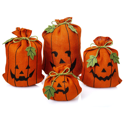 Burlap Pumpkin Sacks | Set of 4 - F. W. Woolworth Co. Online Store
