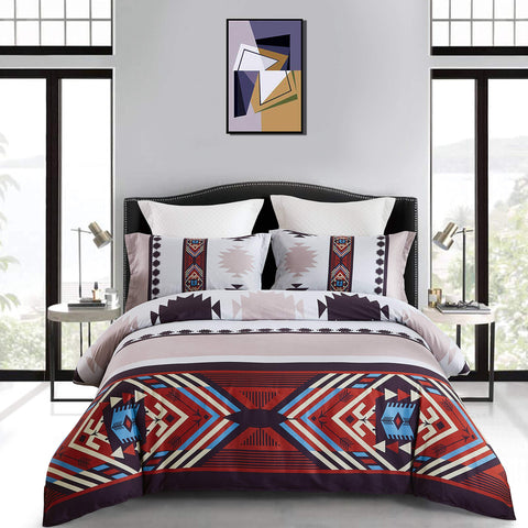 4-Piece Tencel Cotton Ethnic Bohemian Bedding Set - F. W. Woolworth Co. Online Store