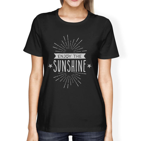 Enjoy The Sunshine Womens Black Shirt - F. W. Woolworth Co. Online Store