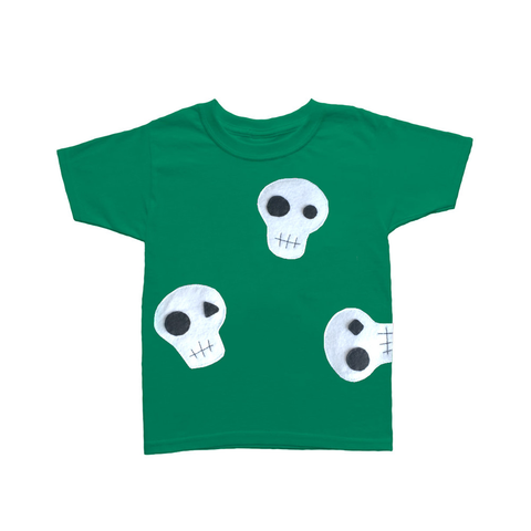 Skulls Can be Cute! - Green and Pink Kids T-Shirt - F. W. Woolworth Co. Online Store