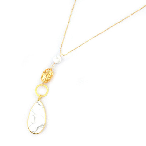 Tess Howlite Necklace - F. W. Woolworth Co. Online Store