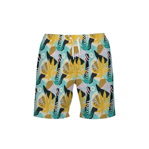 Men's Find Your Coast Ocean Commotion Beach Shorts UPF 40+ w/Lining