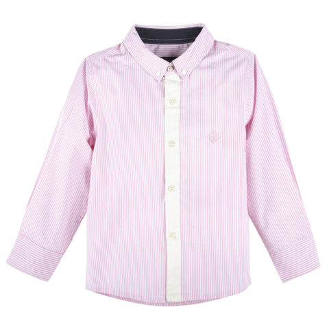 Pink Bengal Stripe Long Sleeve Button-down Shirt - F. W. Woolworth Co. Online Store