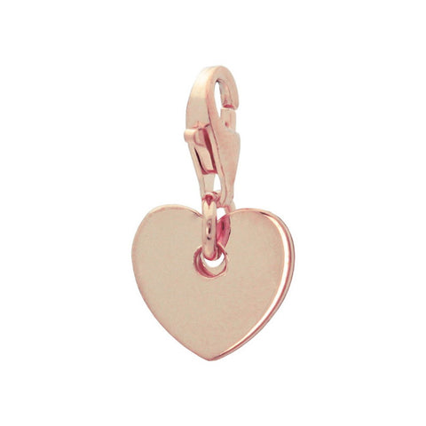 Rose Gold Heart Charm Pendant - F. W. Woolworth Co. Online Store