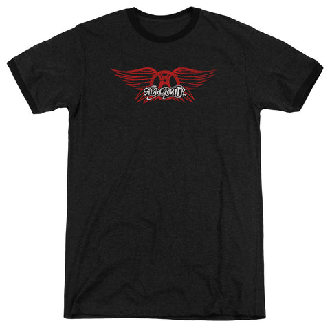 Aerosmith - Winged Logo Adult Heather - F. W. Woolworth Co. Online Store