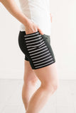 Black & White Pocket Short