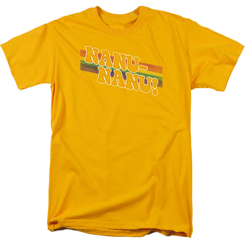 Mork & Mindy - Nanu Rainbow Short Sleeve Adult 18/1 - F. W. Woolworth Co. Online Store