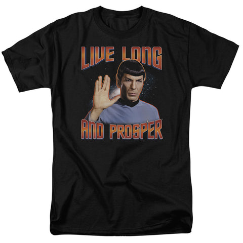 Star Trek - Live Long And Prosper Short Sleeve Adult 18/1