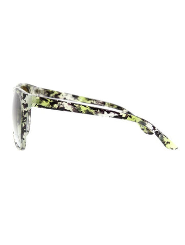 Oversize Green Abstract Sunglasses - F. W. Woolworth Co. Online Store