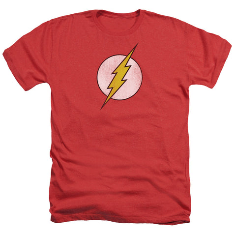 Dc - Flash Logo Distressed Adult Heather