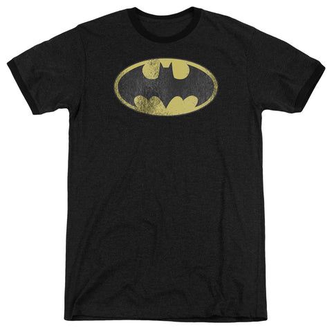 Dc - Retro Bat Logo Distressed Adult Heather - F. W. Woolworth Co. Online Store