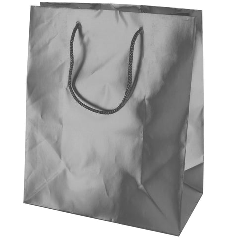 Matte Silver Gift Bag - F. W. Woolworth Co. Online Store