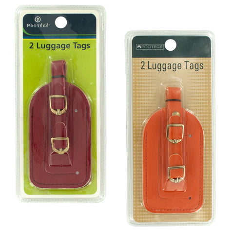 Vinyl Luggage Tag Set