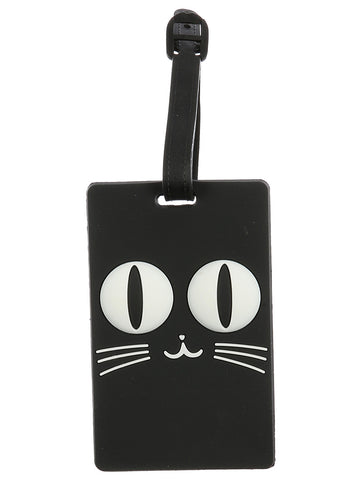 Black Kitty Luggage Tag