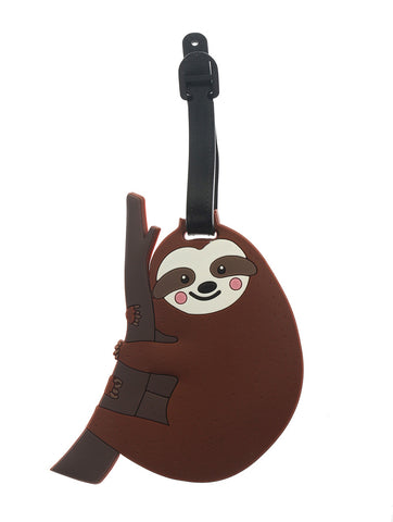 Smiley Sloth Luggage Tag