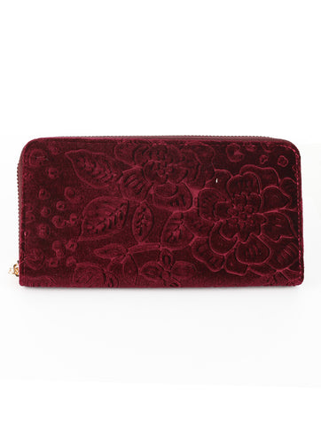 Velvet Floral Wallet - F. W. Woolworth Co. Online Store
