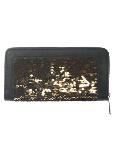 Black Border Sequin Wallet