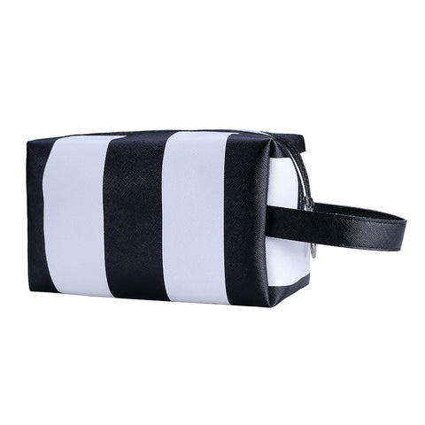 Striped Cosmetics Bag | Assorted Colors - F. W. Woolworth Co. Online Store